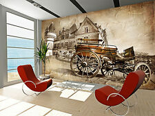 Castle with Old Carriage Wall Mural Photo Wallpaper GIANT WALL DECOR FREE GLUE