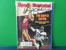 DWIGHT CLARK and EVERSON WALLS SIGNED 1982 SPORTS ILLUSTRATED