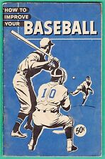 1950'S How to Improve Your Baseball  Free Shipping in the USA