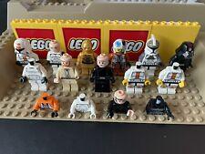 Lot of 15 Genuine LEGO Star Wars Minifigures/Parts Troopers, C-3PO, Obi-Wan