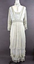 Vintage Style Dresses Nataya Dress mint green Blue Lace Gatsby Victorian XL NWT