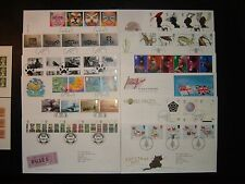 2001 Royal mail FDC'S x 12 & FILATELICO Bureau/tallents House SHS's CV £ 101