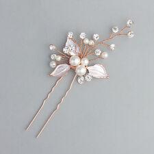 Wedding Hair Accessories Brides Delicate Crystal Rhinestones Pearl Hairpins New