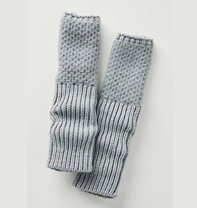 Anthropologie Arm Warmer Fingerless Glove Thumb Hole With Cashmere Gray NWT