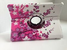 Apple ipad 2/3/4 360 rotating cover pink flowers br