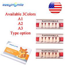 All Size Dental Acrylic Resin Teeth A1a2a3 Full Setanteriorposterior Option
