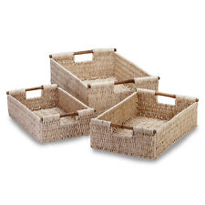 Woven Nesting Trio Baskets Storage Organize Living Room Bedroom Bathroom