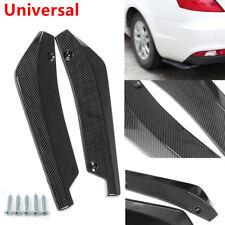 2X Universal Carbon Fiber Look Car Bumper Rear Lip Wrap Angle Diffuser Splitter