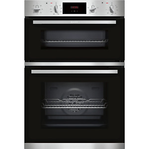 Neff N30 Built-In Electric Double Oven With LCD Display - Stainless Steel