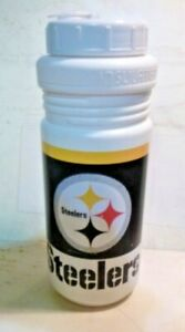 """Vintage Pittsburgh Steelers insulated Water Bottle Beverage Holder Cup 9.5"""""""
