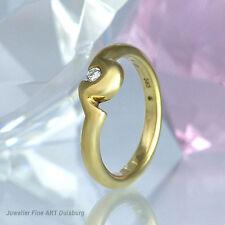 Anello in 585/- Giallo con 1 Diamante 0,07 ct Wesselton/vvsi