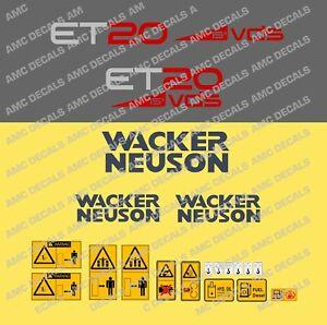 NEUSON WACKER ET20 VDS DIGGER DECAL STICKER SET
