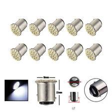 10x T25/S25 1157 BAY15D White 22 SMD LED Car Tail Turn Brake Light Bulb Lamp US