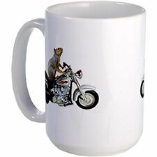 11oz mug Motorcycle Squirrel - Printed Ceramic Coffee / Tea Cup Gift