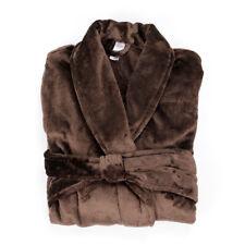 Men's Bath Robe Coffee Flannel One Size Soft Dressing Gown Warm bathrobe