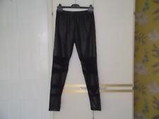 Pantalones con insertos de encaje negro brillante en las piernas: tamaño L/XL: Nuevo Sin Etiqueta