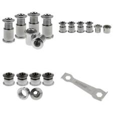 15 Pairs Multi Size Crankset Bolts Crank Screws Nuts & 1 Hexagon Wrench Set