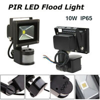 PIR Motion Sensor Yard 10w LED Floodlight Flood Lamp Garden Standard Cool White