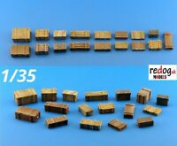 1/35 Boxes and Crates - Military Scale Model Stowage Diorama Accessories Kit B2