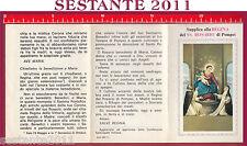 993 SANTINO HOLY CARD SUPPLICA ALLA REGINA MADONNA DEL SS. ROSARIO DI POMPEI