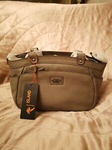 Island Genuine Leather Handbag /Shoulder Bag - Sage.