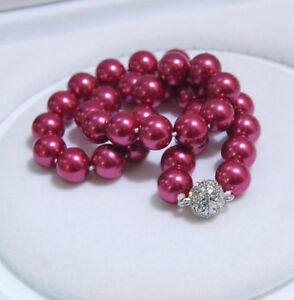 """8/10/12mm South Sea Shell Pearl Round Beads Necklace 18"""" AAA+"""