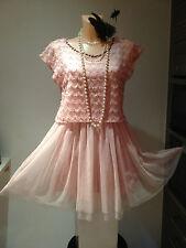 Tokyo Muñeca Rosa Perla Década de 1920 Aleta Gatsby Cóctel Crucero Vestido para Baile de Graduación Talla 14