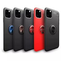 Rotating Key Ring Magnetic Mobile Stand Case Cover For iPhone 11 PRO MAX XR XS