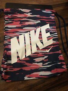 NIKE DRAWSTRING Backpack bag PINK / BLUE/white New!!
