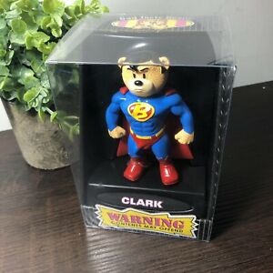 "Bad Taste Bears Clark Superman Rare 4"" Figure - 2004"