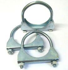 """1 /"""" 60mm inox tubo di scarico Connettore Manicotto Joiner Clamp-On U-Bolt MORSE"""