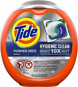 Tide Hygienic Clean Heavy 10x Duty Power PODS Laundry Detergent Pacs, Original,