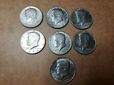 Lot Of 1970's Kennedy Half Dollar Coins 1971D,1972D,1973,1974,1977,1979 And A...