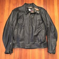 New With Tags $299 PowerTrip Supercharger Black Leather Jacket Size 2XL XXL