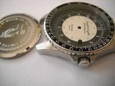 "Stainless Pilot Men's Watch Case ""Kitty Hawk"" ETA 2824-2 W/ 2 Tone Military Dial"