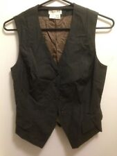COUNTRY ROAD NWOT SzS (10/12*) Charcoal Vest Jacket Corporate / Formal 100% Wool