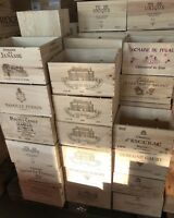 3x Weinkiste Holz 6er Frankreich Kisten Deko Wein Shabby Chateau Regal OHK
