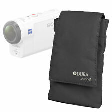 Black Portable Nylon Smartphone Case for Sony FDR-X3000R Action Camera