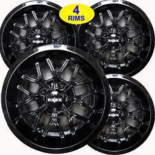 Mini Truck Rims Wheels 12x6 44 33 Rhox Rx284 B Gloss Black Set Of Four