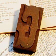 "Letter ""G"" rare decorative wood type character letterpress printing block font"