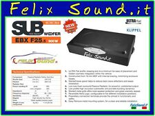 HERTZ EBX F25.5 SubWoofer in Cassa Ultra FLAT  900 WATT Max Power NEW Model 2016