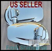 Pair Chrome Mirrors Tear Drop - Honda Silver Wing GL500 GL650