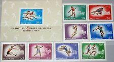 HUNGARY UNGARN 1966 2262-69 B Block 54 B 1787-94 C261 Athletics CS Sport MNH
