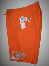 Quiksilver Boys 28/16 Surf Board Shorts Boardshort Smashing Bright Neon Orange