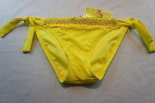 Bikini Bottom Sz S Hobie Yellow Daffodil Tie Side Hipster Swim Pant
