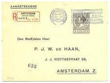 NEDERLAND 1932 REG COVER MAASTICHT 5 GLD WILHELMINA --VF