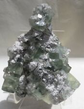 Translucent Green Flourite Crystals Specimen from Hunan, China - 542 Grams