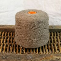 1kg Choc Brown Marl 5/0.7 NM 100% Lambswool Yarn Cone Weaving Woollen Lovely