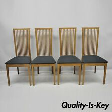 Set of 4 Calligaris Connubia Slat Back Italian Wooden Dining Side Chairs