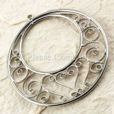 Unbranded Antiqued Metal Round Jewellery Making Craft Beads